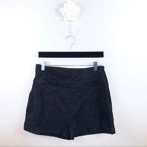 Anthropologie Sans Souci Black Lace Shorts